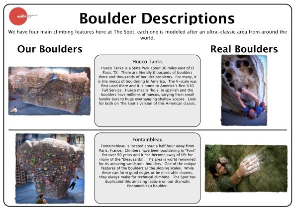 Descriptions of our boulders 2