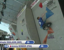 Jeremy Bonder near the top of Semi 4