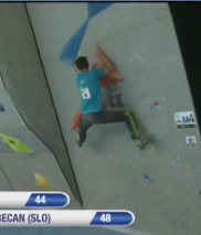 Klemen Becan on the bottom of Men's Semi 4